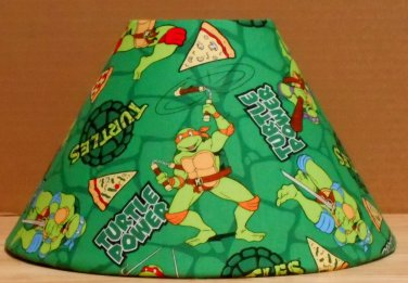 Teenage Mutant Ninja Turtles fabric Lamp Shade Lampshade Michelangelo Pizza 469