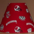 Wisconsin Badgers College Football fabric lampshade NCAA sports handmade DESK TABLE