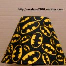 BATMAN Lampshade SUPER HERO Fabric Lamp Shade Insignia Logo Bat Bats 6459