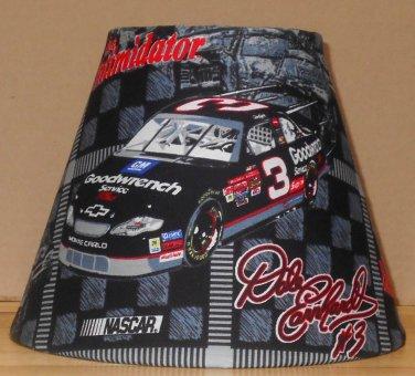 DALE EARNHARDT SR  LAMP AND SHADE  FABRIC LAMP SHADE lampshade NASCAR RACING 7.5x5x9.5