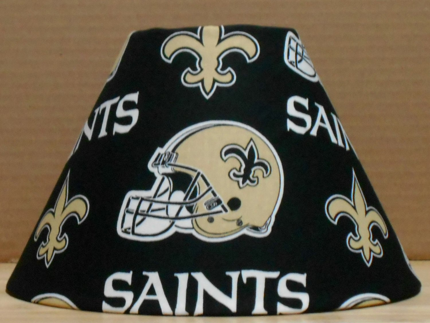 New orleans saints fabric lamp shade lampshade sports nfl football new orleans saints fabric lamp shade lampshade sports nfl football handmade desk table mozeypictures Images