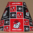 GEORGIA BULLDOGS Fabric Lampshade Lamp Shade UGA DAWGS NCAA 6459