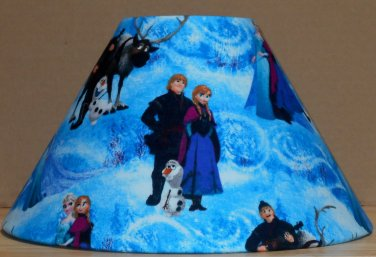 Disney Frozen Kristoff Anna & Olaf fabric Lamp Shade Lampshade 4x6.5x9