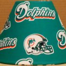 MIAMI DOLPHINS FABRIC LAMP SHADE lampshade NFL FOOTBALL SPORTS Handmade