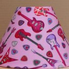 Guitar FABRIC LAMP SHADE lampshade Purple Red Skull Music Heart Rock Band
