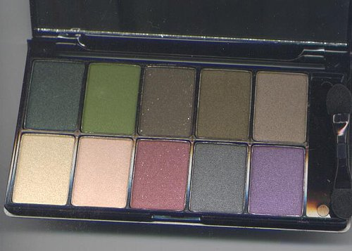 NYX Runway Collection 10 Eyeshadow Pallet -GREEN EYES
