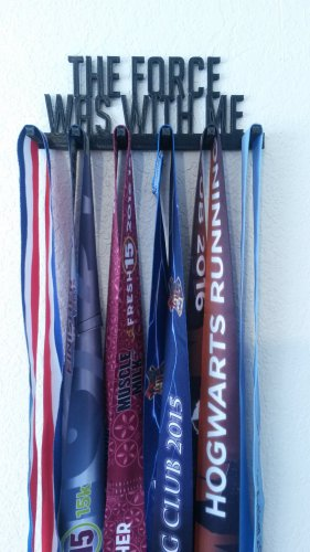 The Force Was with Me Running Marathon Sports Medal Display Medal Rack Medal Holder