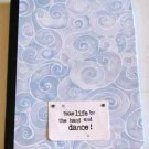 Shades of Blue and Gray Altered Art Journal