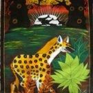 Hyena Strolling Oil on Canvas