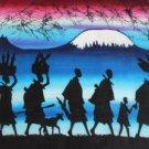 Maasai Walking Candle Wax Batik