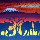 Kilimanjaro Elephants Candle Wax Batik