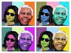 Michael Jackson Nelson Mandala Giclee on Canvas