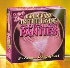 Crotchless panties - glow in the dark
