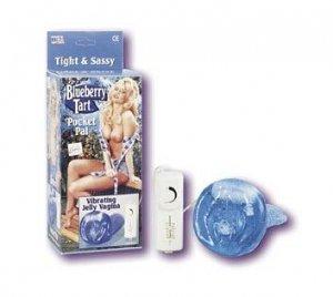 Blue Jelly vibrating Vagina