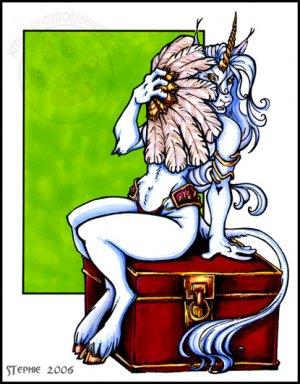 Unicorn Fan Print
