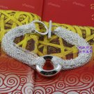 925 silver Tassels Shape O Elegant chain bracelet DB030