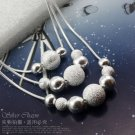 925 Sterling silver 3 bunch beads Necklace NA476