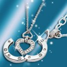 Elegant 925 sterling silver double chain Necklace NA366