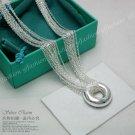 925 sterling silver Tassels Shape 'O' Necklace NA027