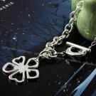 925 sterling silver Necklace with leaves flowers NA001