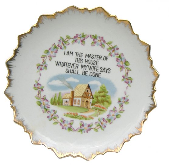 I am the Master of This House Plate