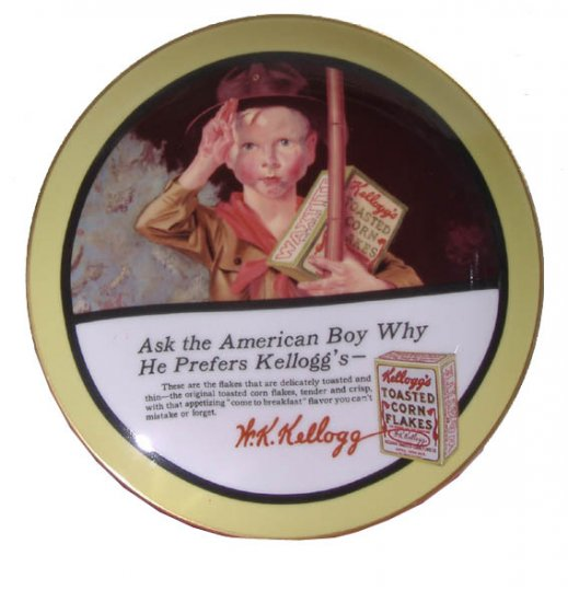Kellogg's Ask the American Boy! Collector Plate