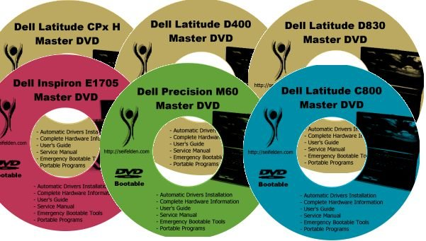 Dell Inspiron 1200 Drivers Restore Recovery CD/DVD