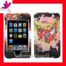 Hard Case Cover for APPLE ipod itouch 2nd 3rd Generation ~  LOVE TATTOO