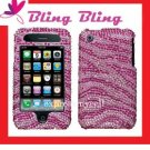 BLING Case Cover for Apple iPhone 3G 3GS ~ DIAMOND PINK ZEBRA