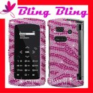 New BLING BLING Case Cover for SANYO INCOGNITO 6760  ~ DIAMOND PINK ZEBRA