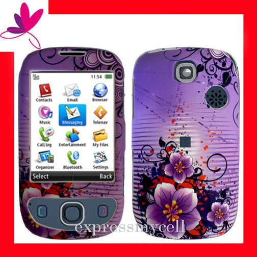 NEW Hard Case Cover for HUAWEI TAP U7519 ~ PURPLE FLORAL