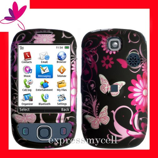 NEW Hard Case Cover for HUAWEI TAP U7519 ~ MIDNIGHT FLORAL & BUTTERFLY