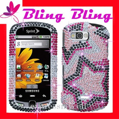 NEW BLING Case Cover for SAMSUNG MOMENT M900 ~ DIAMOND CRYSTAL STAR