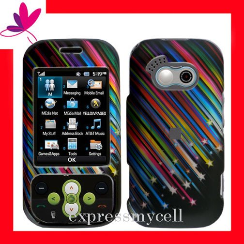 NEW Hard Case Cover for LG NEON GT365  ~ 2D SHOOTING STARS