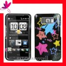 NEW Hard Case Cover for HTC HD2  ~  CHALK BOARD COLOR STAR
