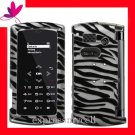 New Hard Case Cover for BOOST MOBILE & SPRINT Carrier SANYO INCOGNITO 6760  ~ 2D SILVER ZEBRA