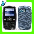 NEW Straight Talk  NET 10 TPU GEL Cover for SAMSUNG R355C ~ SMOKE ZEBRA