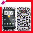 new Premium Hard CASE COVER for HTC EVO 4G ~ RAINBOW COLOR LEOPARD