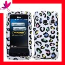 new Premium Hard CASE COVER for Straight Talk LG511C LG 511C 511 ~ RAINBOW COLOR LEOPARD
