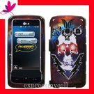 new Premium Hard CASE COVER for Straight Talk LG511C LG 511C 511 ~ LIGHTING SKULL