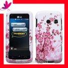 new Premium Hard CASE COVER for Straight Talk LG511C LG 511C 511  ~ SPRING FLOWER