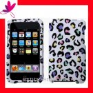 NEW PREMIUM HARD CASE for APPLE IPOD TOUCH 2ND 3RD GENERATION ~ RAINBOW COLOR LEOPARD