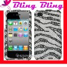new Premium BLING BLING CASE COVER for APPLE iphone 4 4th Generation 4GS ~ DIAMOND ZEBRA