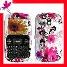 STRAIGHT TALK  &  NET 10 Premium RUBBERIZED COATING Case Cover Samsung R355C R355 ~ HOT PINK TULIP