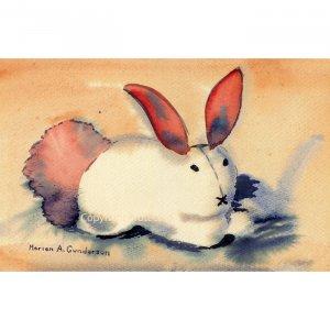 "Bunny (8.5"" H x 13"" W, Medium; Giclee Print of Watercolor Painting) (Rabbit)"