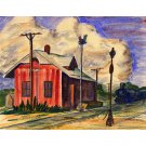 "Depot (13.25"" H x 16.25"" W, Standard; Giclee Print of Watercolor Painting)"