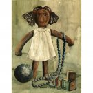 "Doll (13.25"" H x 10"" W, Medium; Giclee Print of Watercolor Painting)"