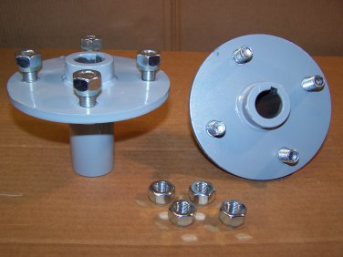 """New Pair """"4-on-4"""" Wheel Hubs with 1"""" Bore, for PermaGreen® and Mower Racers"""