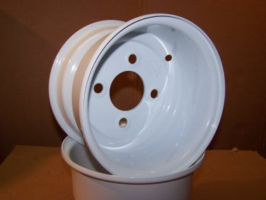 """New Pair Offset 8"""" Wheel Rims with 4-on-4"""" Lug Pattern; fit Mower Racing, Others"""