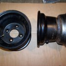 "New 4-on-4, 8""x7"" Offset Wheels for Riding Mowers, Garden Tractors"